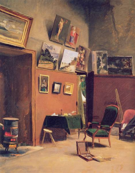Frédéric Bazille, Studio in the Rue Furstenberg, 1865