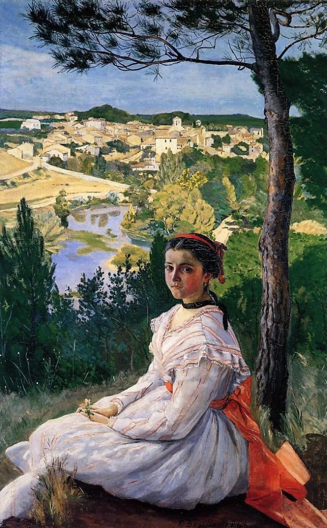 Frédéric Bazille, The View of the Village, 1868