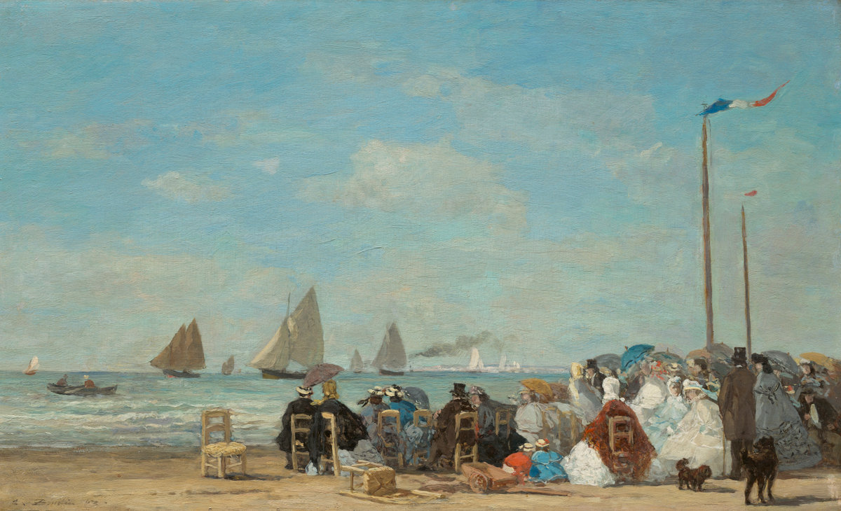 Eugène Boudin, Beach Scene at Trouville, 1863