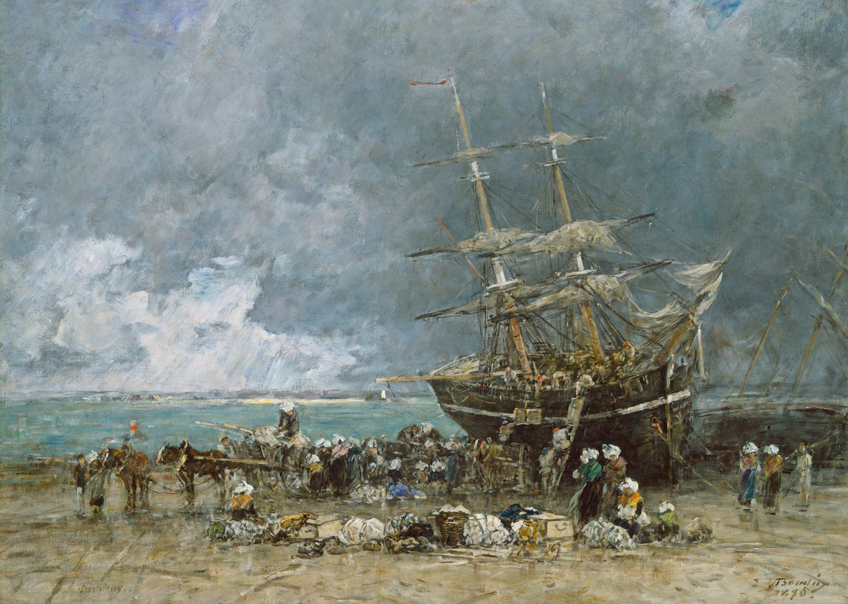 Eugène Boudin, Return of the Terre-Neuvier, 1875