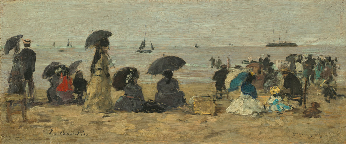 Eugène Boudin, The Beach, 1877