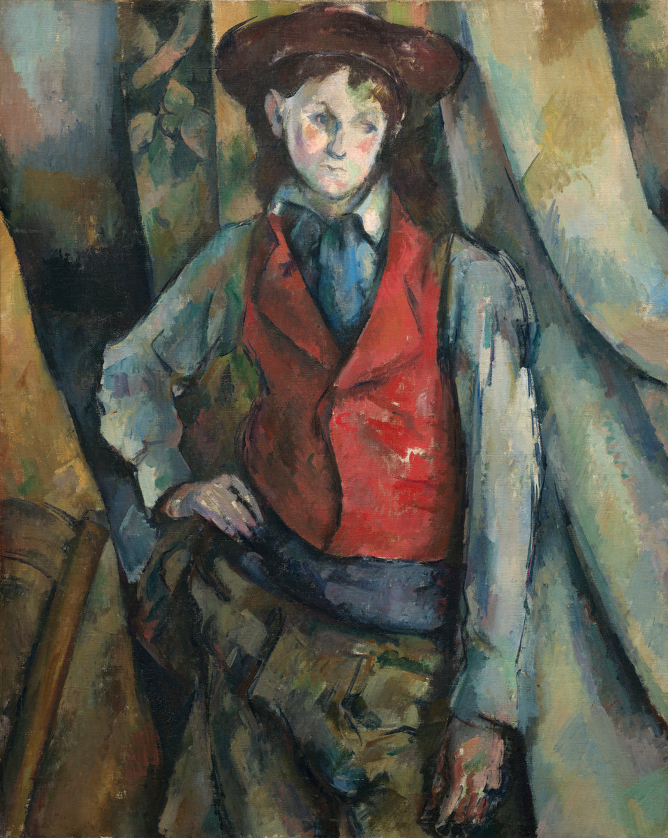 Paul Cezanne, Boy in Red Waistcoast, 1888/1890
