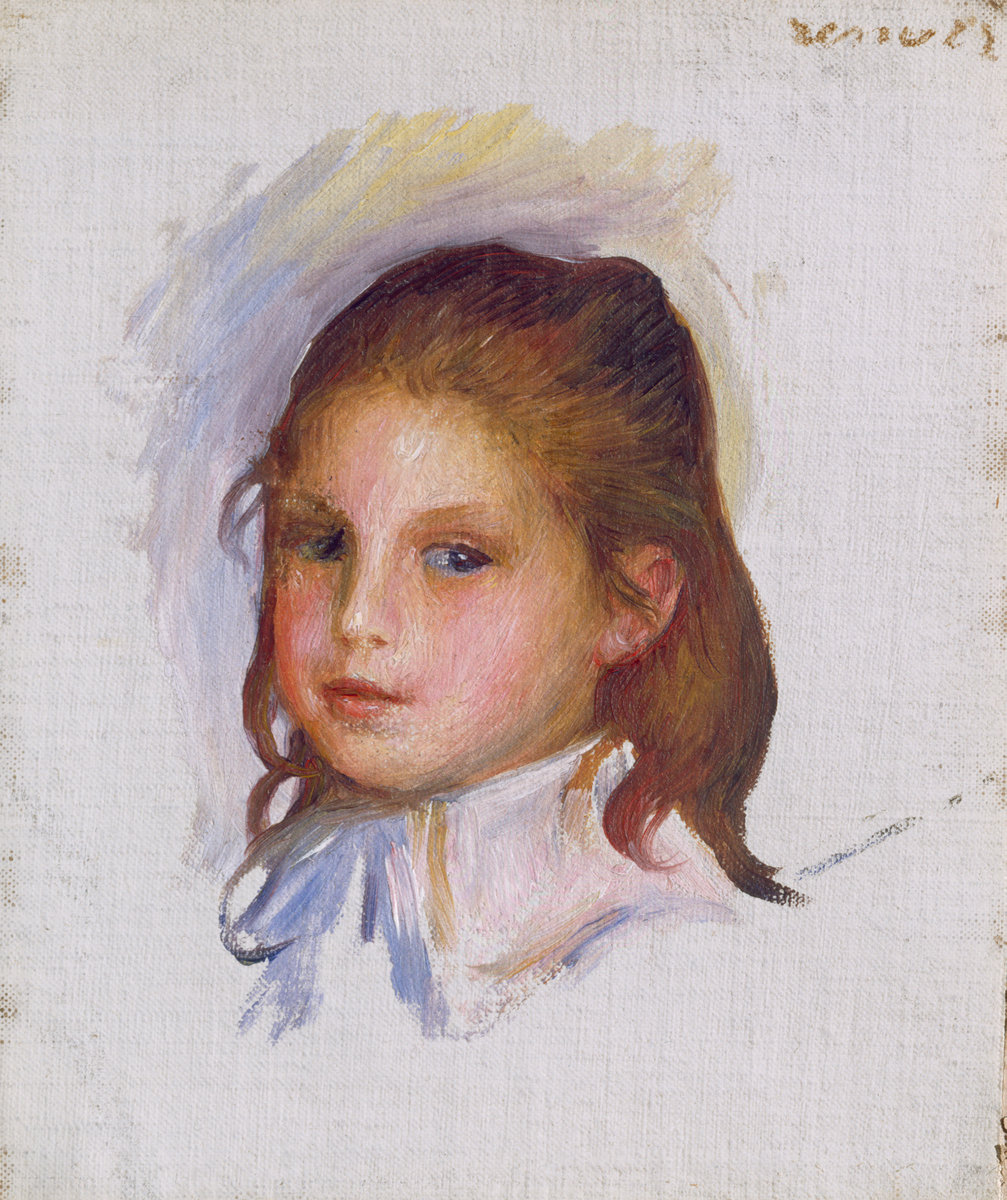 Pierre-Auguste Renoir, Child with Brown Hair, 1887/1888