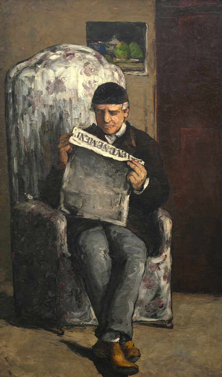 "Paul Cezanne, The Artist's Father, Reading ""L'Evenement"", 1866"