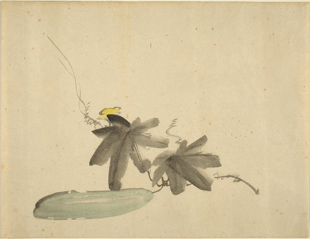 Èdouard Manet, Cucumber with Leaves, c. 1880