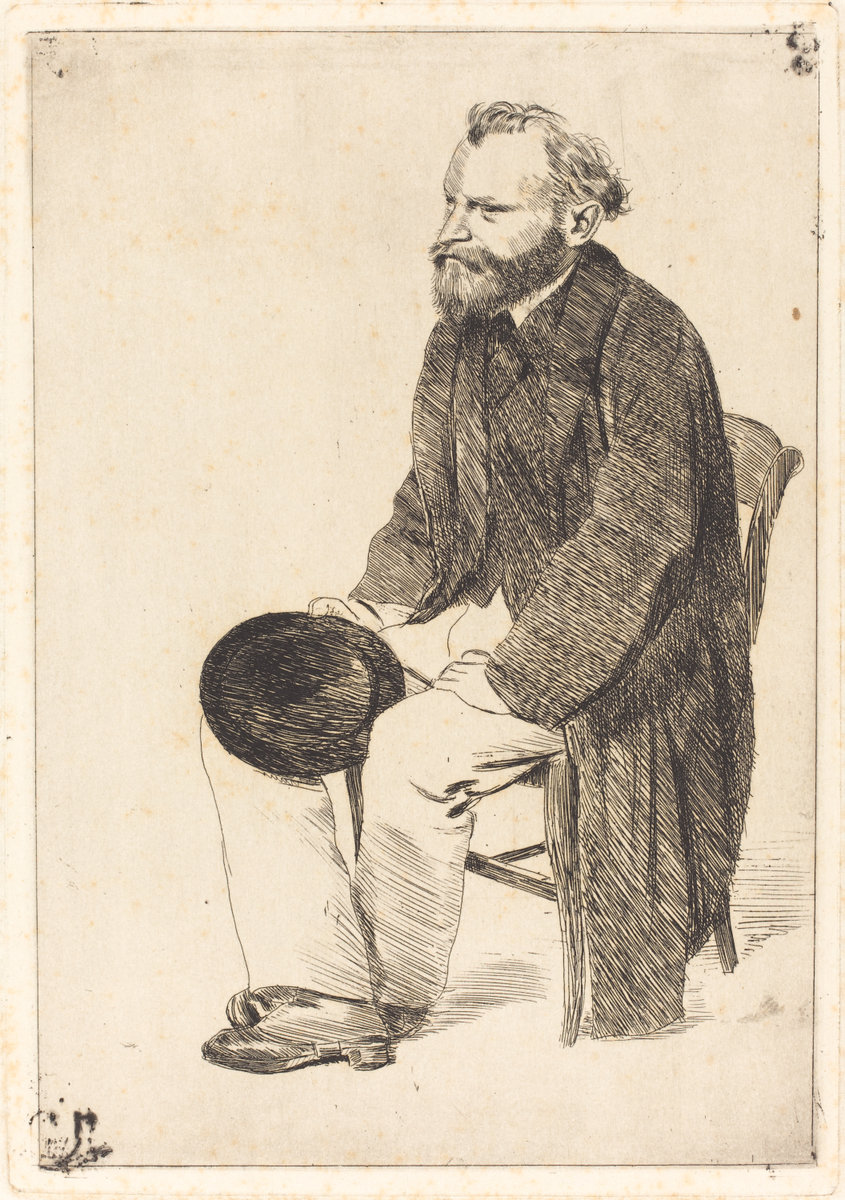 Edgar Degas, Manet Seated, Turned to the Left (Manet assis, tourne a gauche), c. 1861