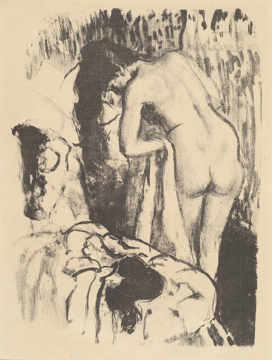 Edgar Degas, Nude Woman Standing, Drying Herself (Femme nue debout, a sa toilette), c. 1890