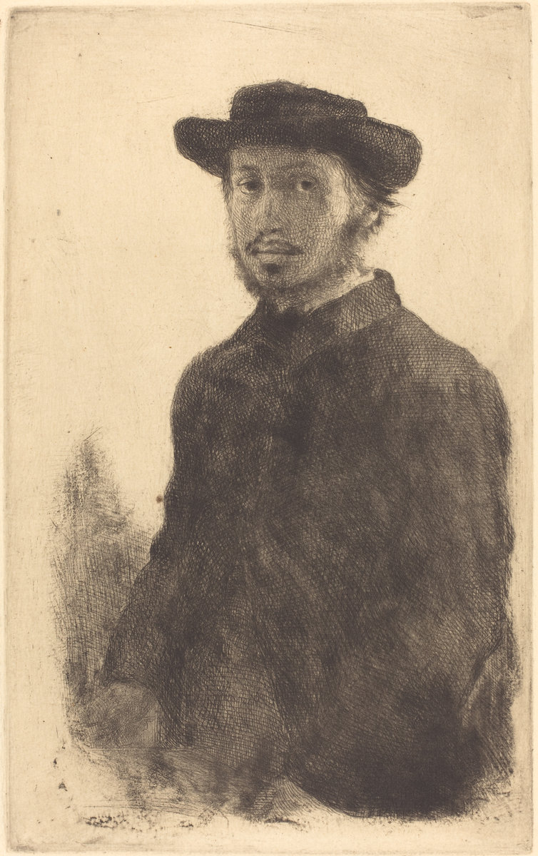 Edgar Degas, Self Portrait (Edgar Degas, par lui-meme) Probably 1857