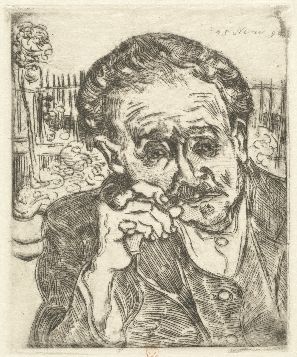 Vincent Van Gogh, Dr. Gachet (Man with a Pipe), 1890