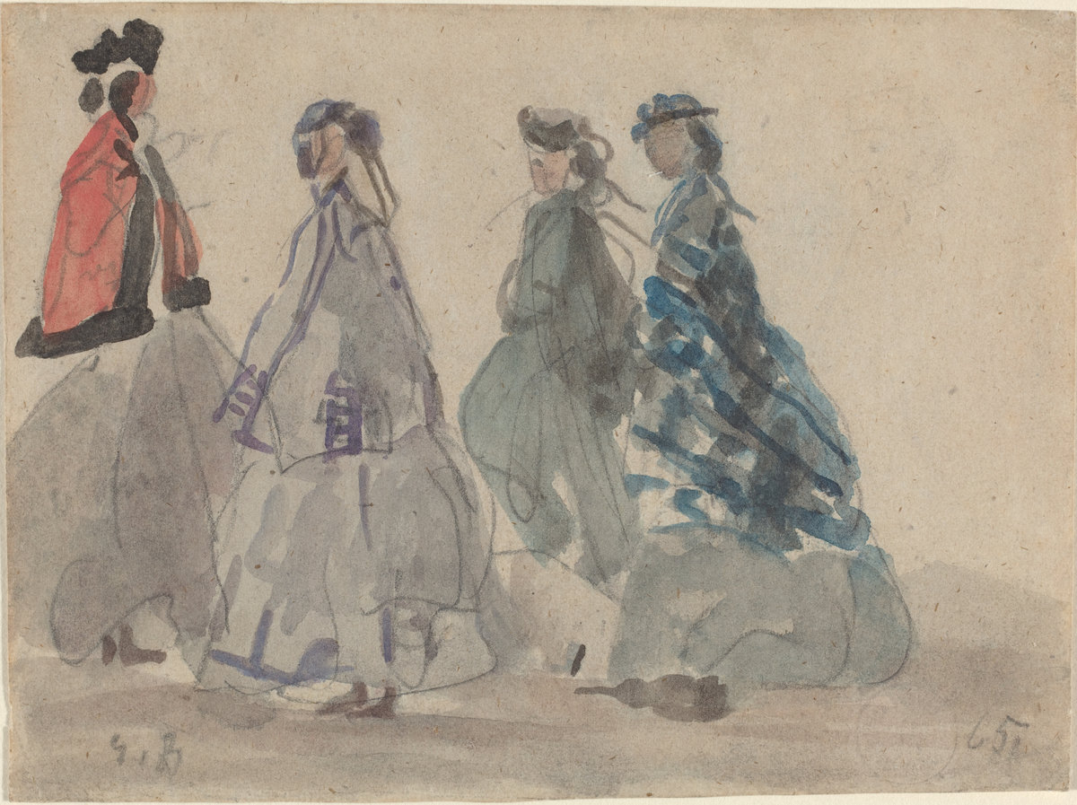 Eugène Boudin, Four Women at Trouville, 1865