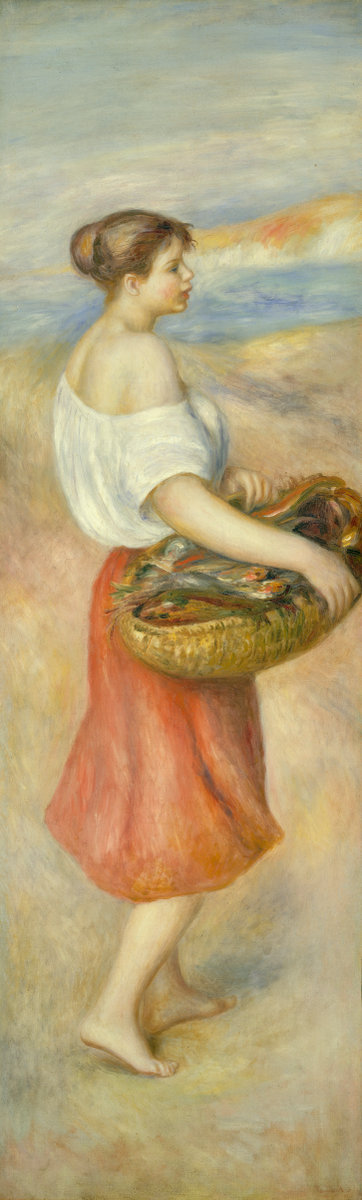 Pierre-Auguste Renoir, Girl with a Basket of Fish, c. 1889