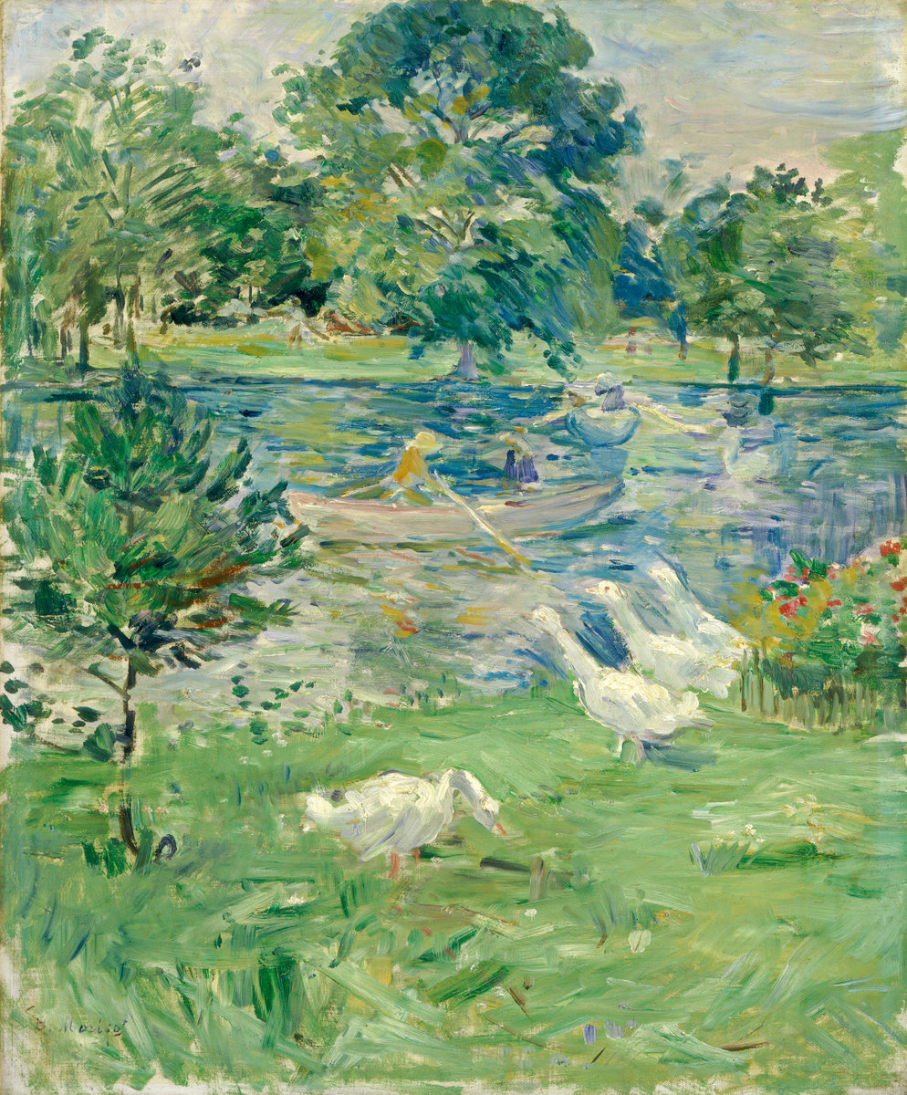 Berthe Morisot, Girl in a Boat with Geese, c. 1889