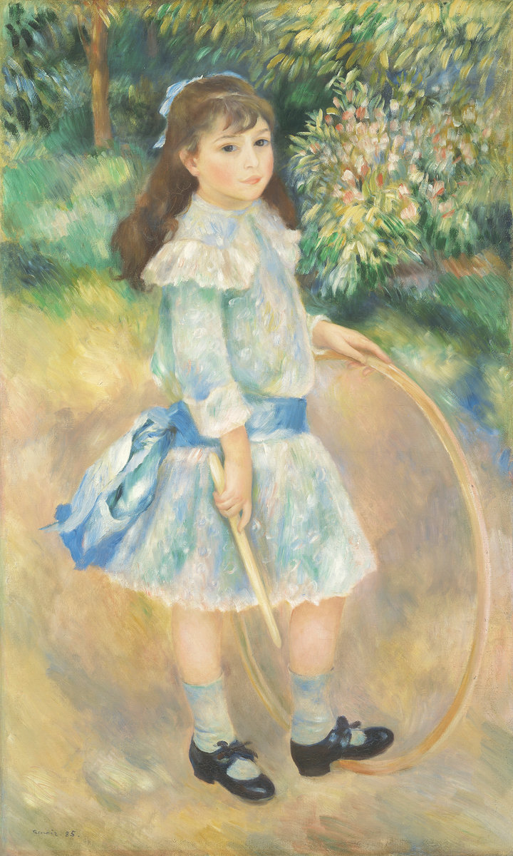 Pierre-Auguste Renoir, Girl with a Hoop, 1885