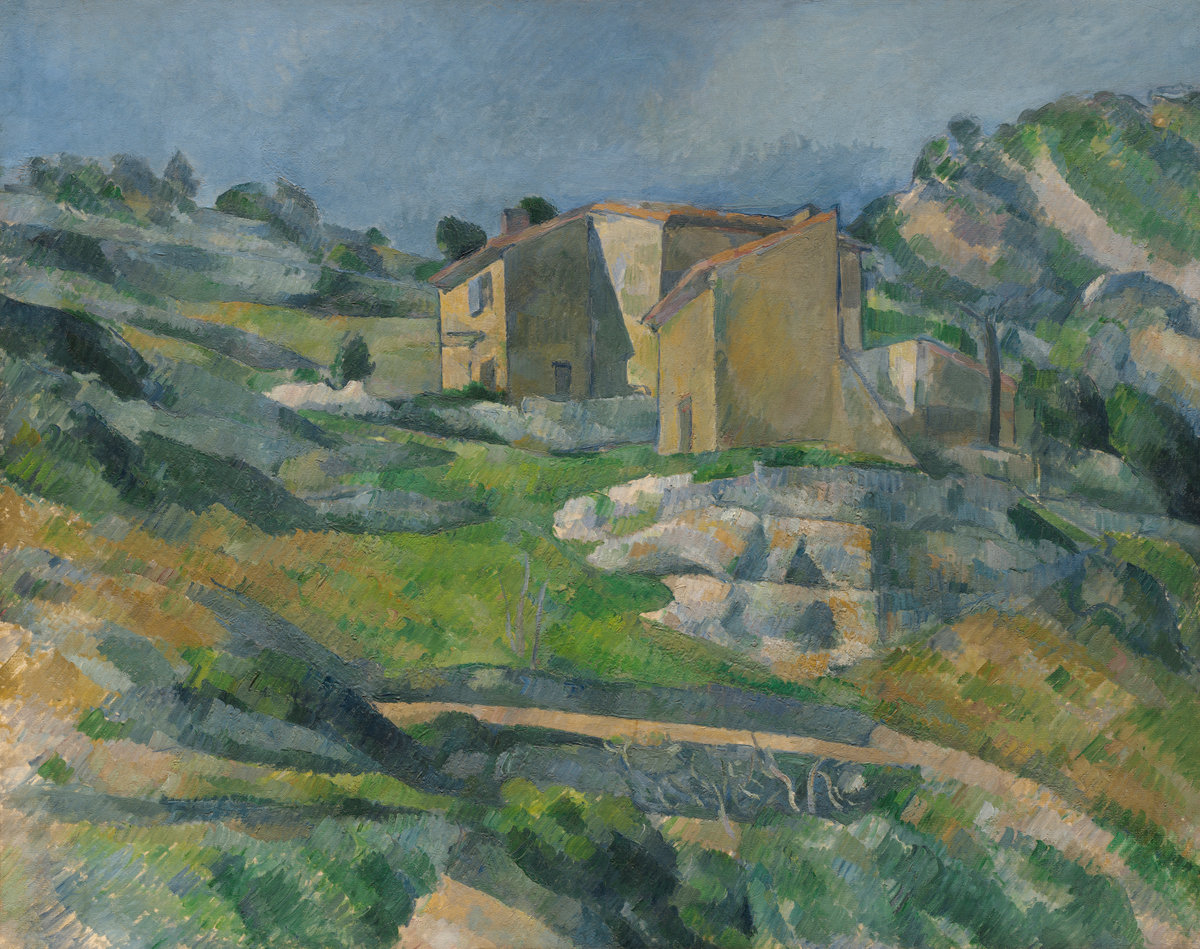 Paul Cezanne, Houses in Provence: The Riaux Valley near L'Estaque, c. 1883