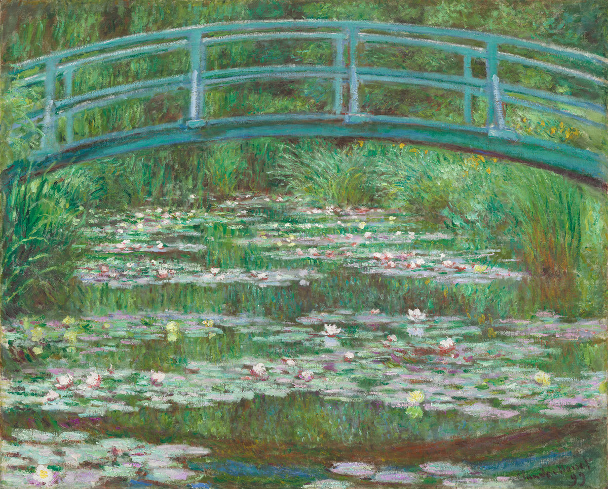 Claude Monet, The Japanese Footbridge, 1899