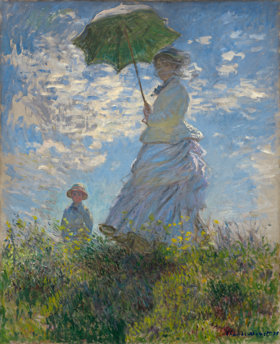 Claude Monet, Woman with a Parasol- Madame Monet and Her Son, 1875
