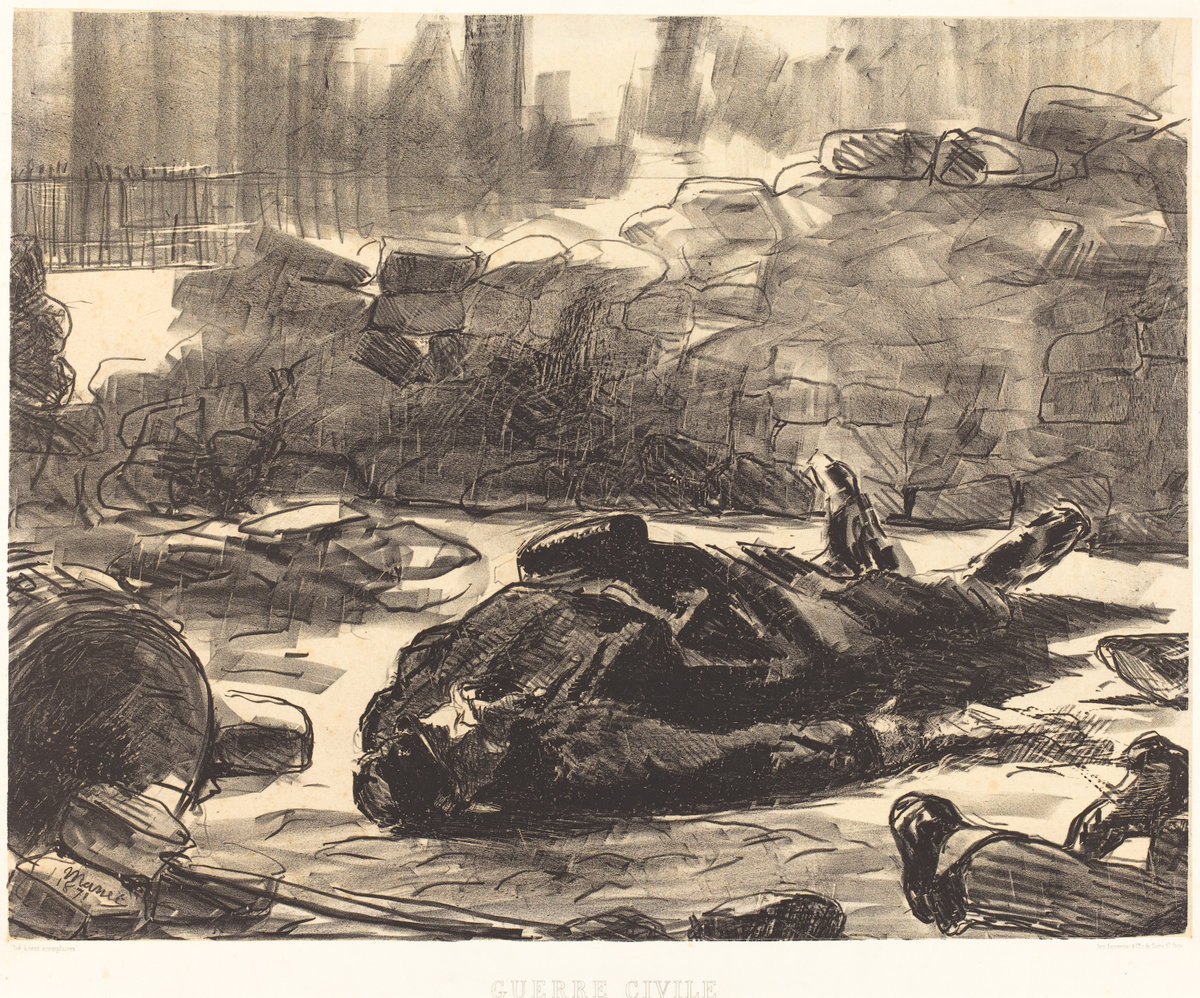 Èdouard Manet, Civil War (Guerre Civile), 1871