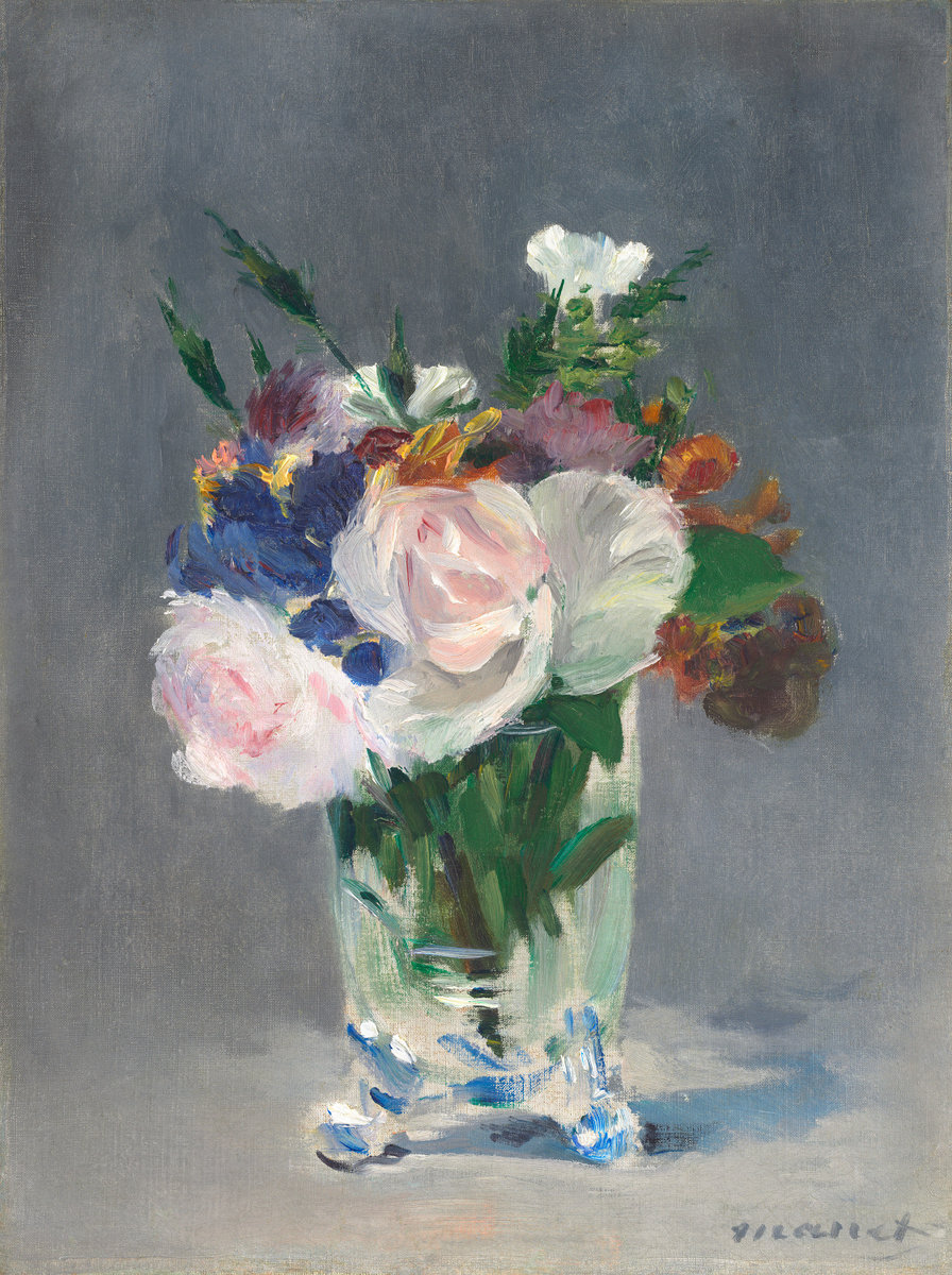 Èdouard Manet, Flowers in a Crystal Vase, c. 1882
