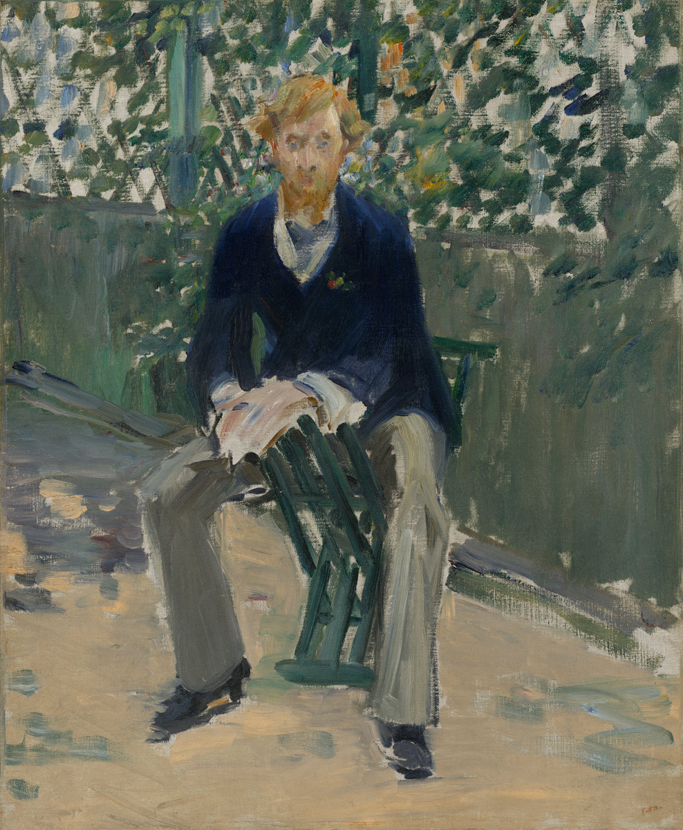 Èdouard Manet, George Moore in the Artist's Garden, c. 1879