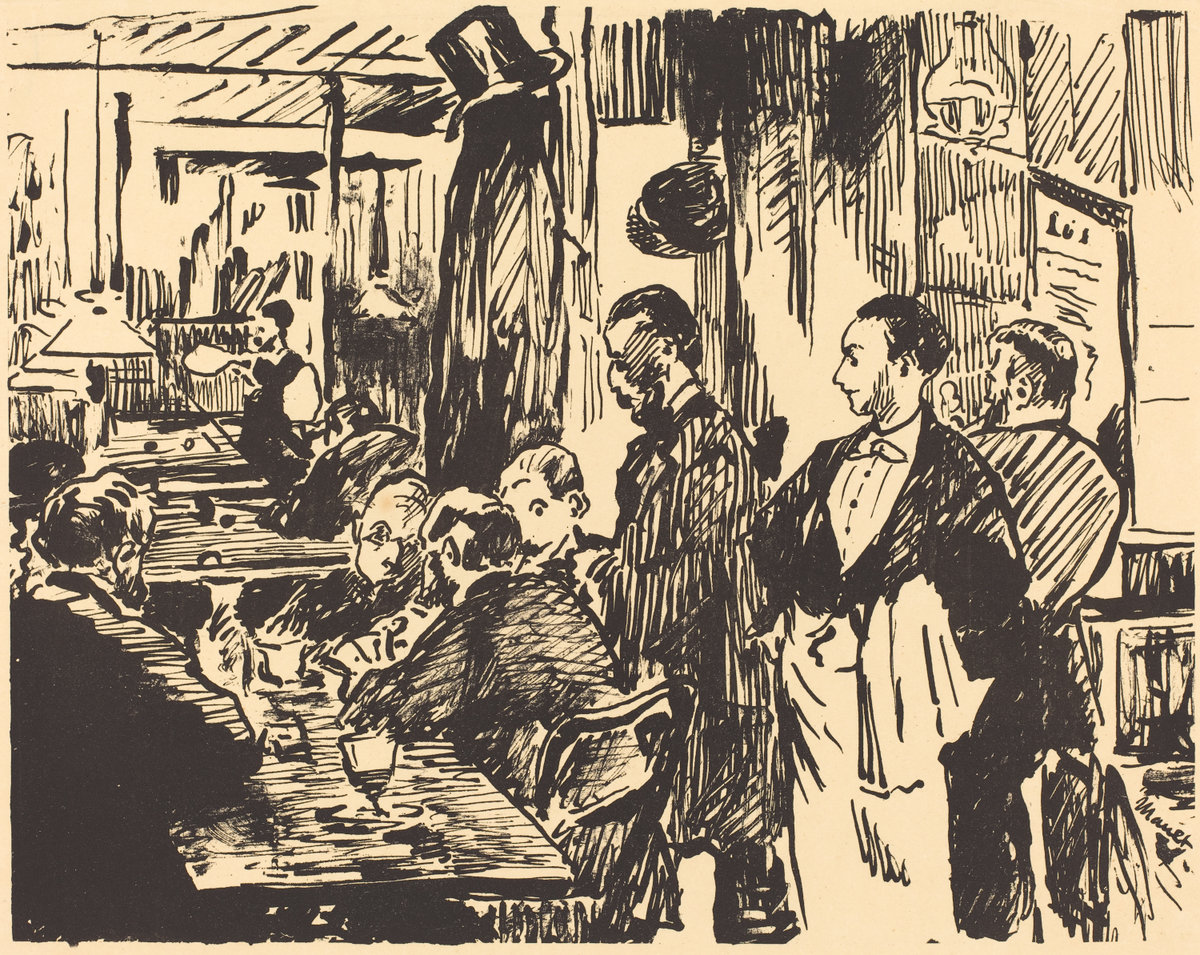 Èdouard Manet, At the Cafe (Au Cafe), 1896