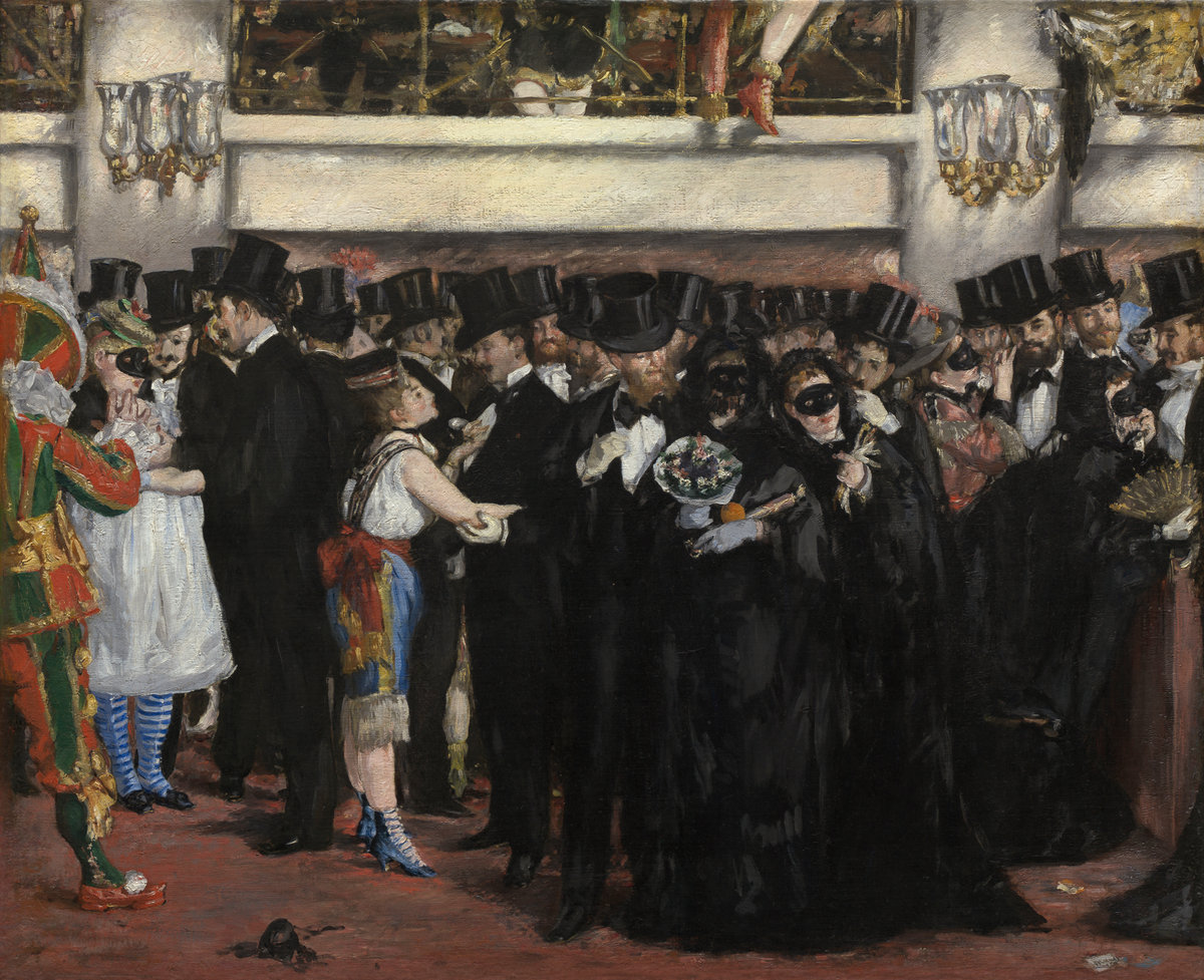 Èdouard Manet, Masked Ball at the Opera, 1873