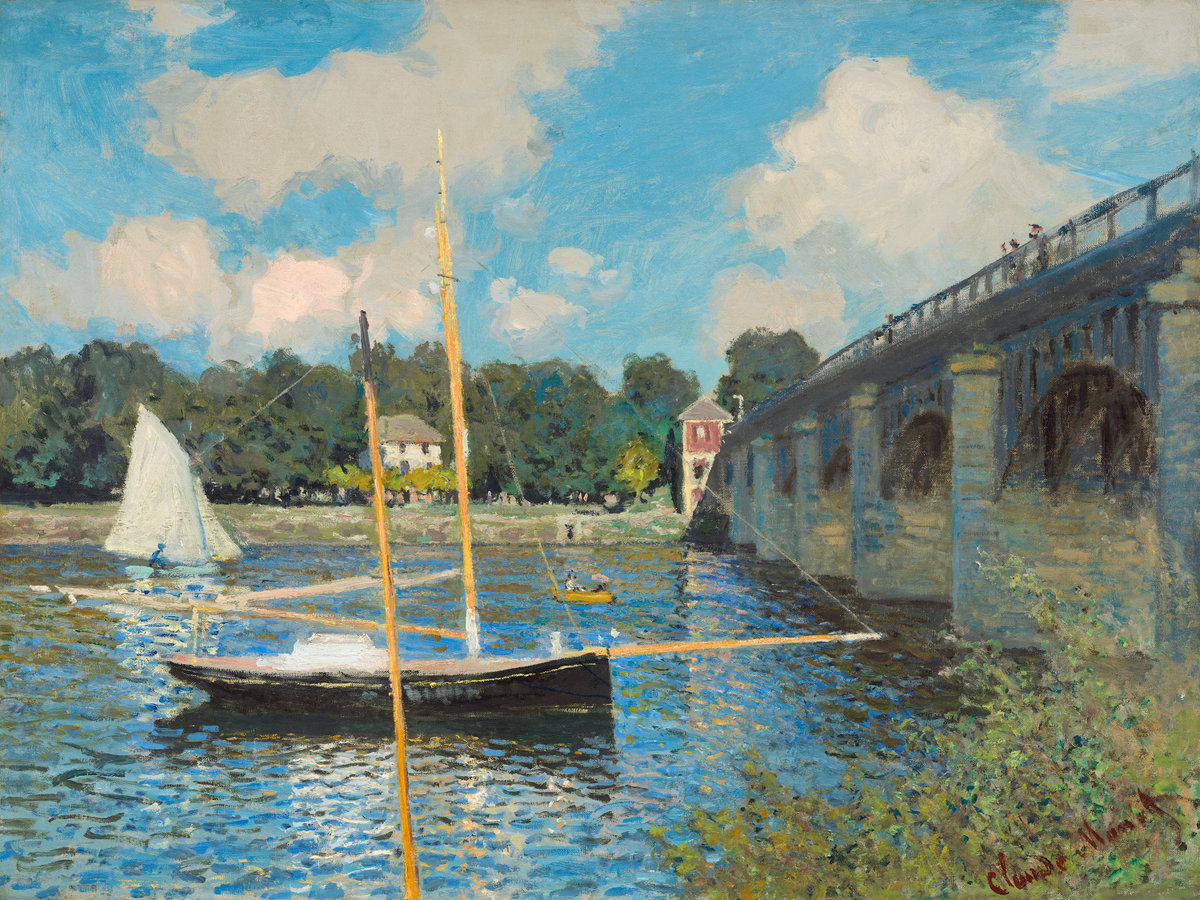 Claude Monet, The Bridge at Argenteuil, 1874