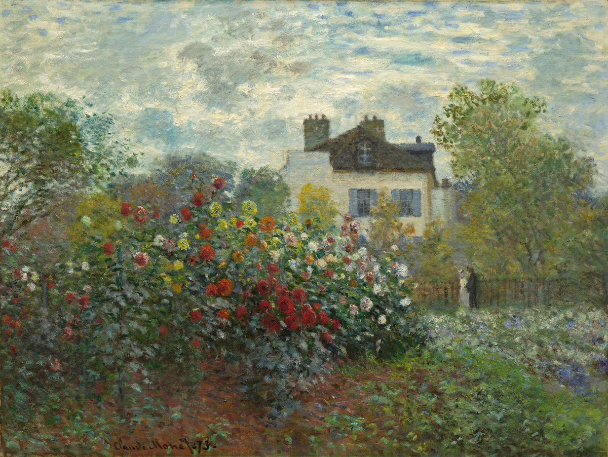 Claude Monet, The Artist's Garden in Argenteuil (A Corner of the Garden with Dahlias) 1873