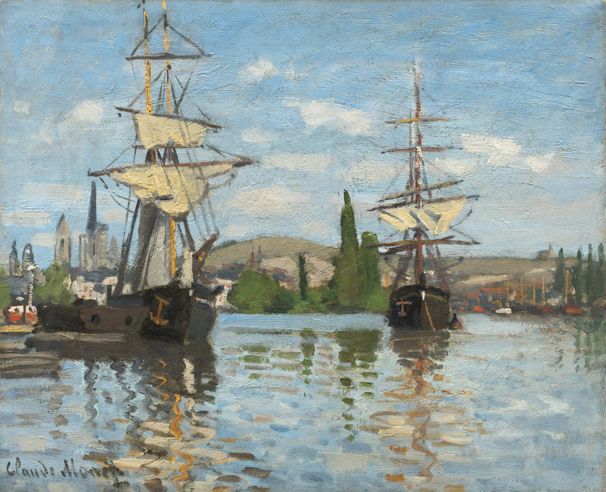 Claude Monet, Ships Riding on the Seine at Rouen, 1872/1873