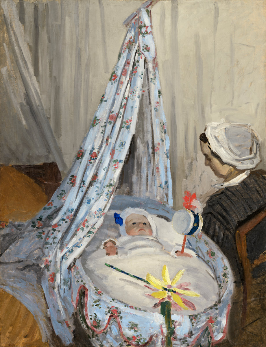 Claude Monet, The Cradle, Camille with the Artist's Son Jean, 1867