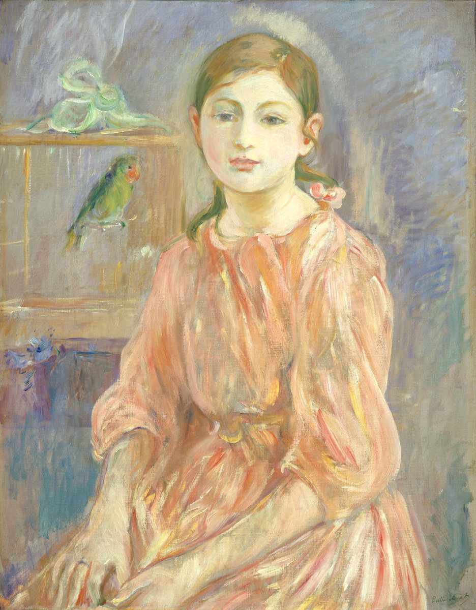 Berthe Morisot, The Artist's Daughter with a Parakeet, 1890