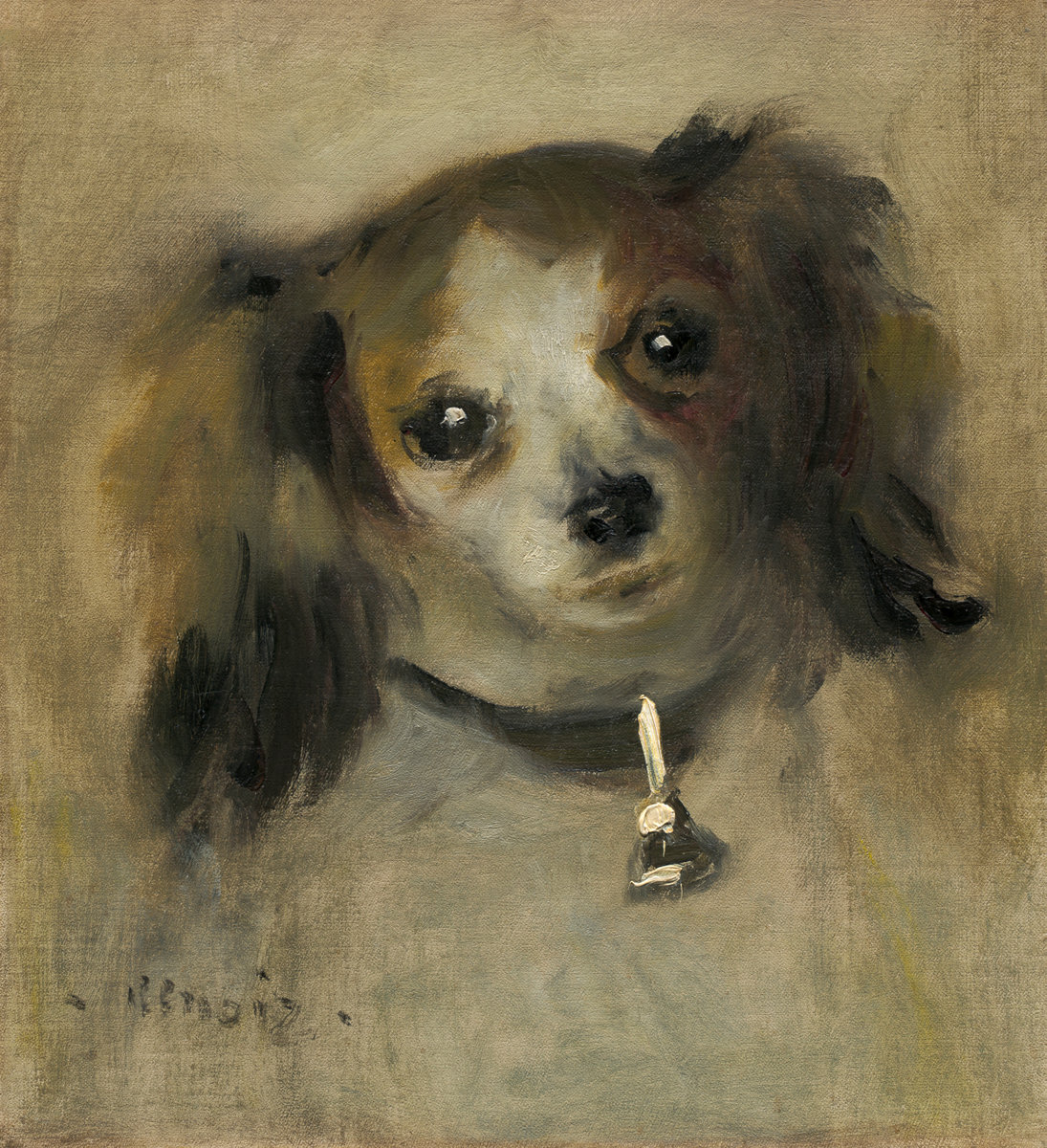 Pierre-Auguste Renoir, Head of a Dog, 1870