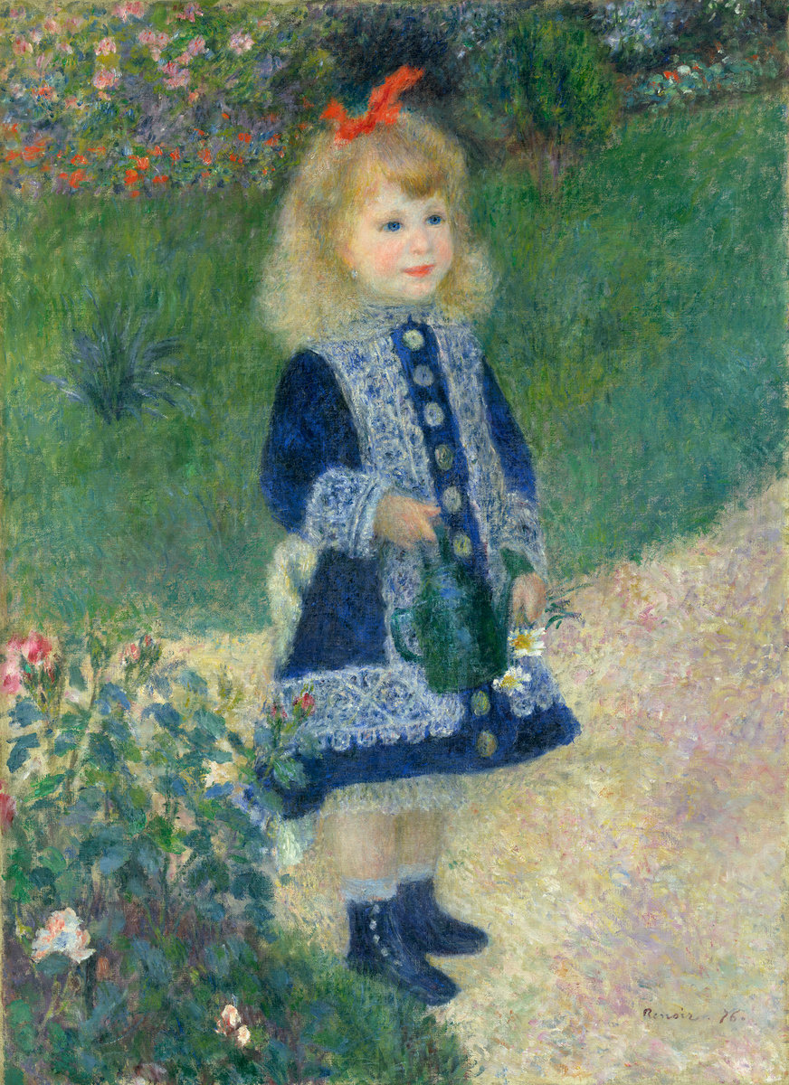 Pierre-Auguste Renoir, A Girl with a Watering Can, 1876