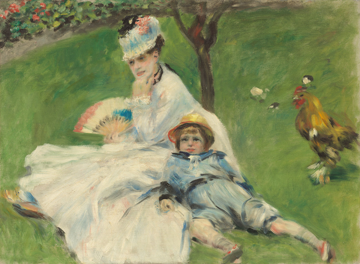 Pierre-Auguste Renoir, Madame Monet and Her Son, 1874