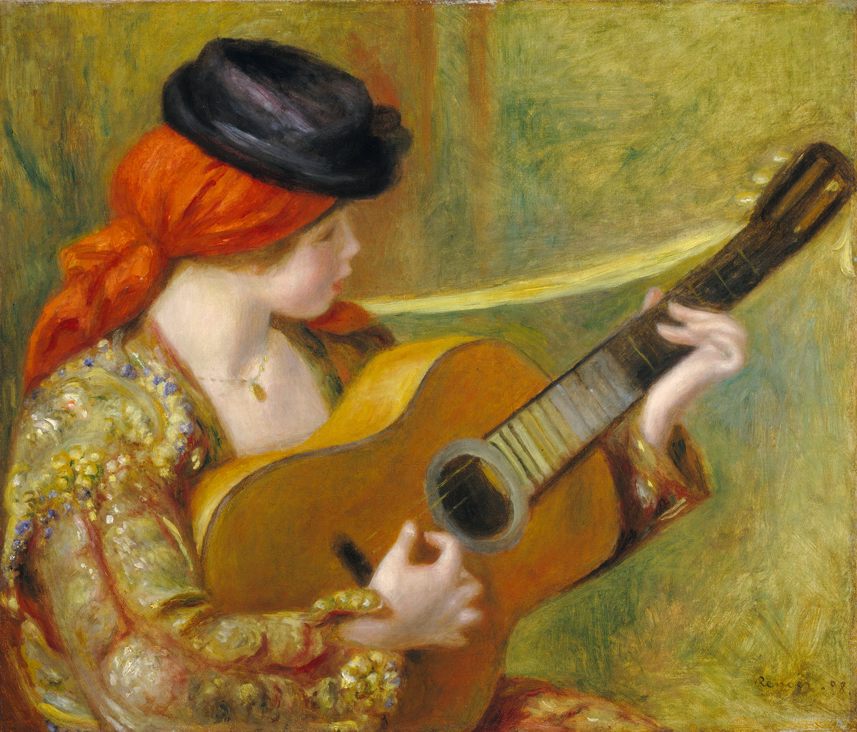 Pierre-Auguste Renoir, Young Spanish Woman with a Guitar, 1898