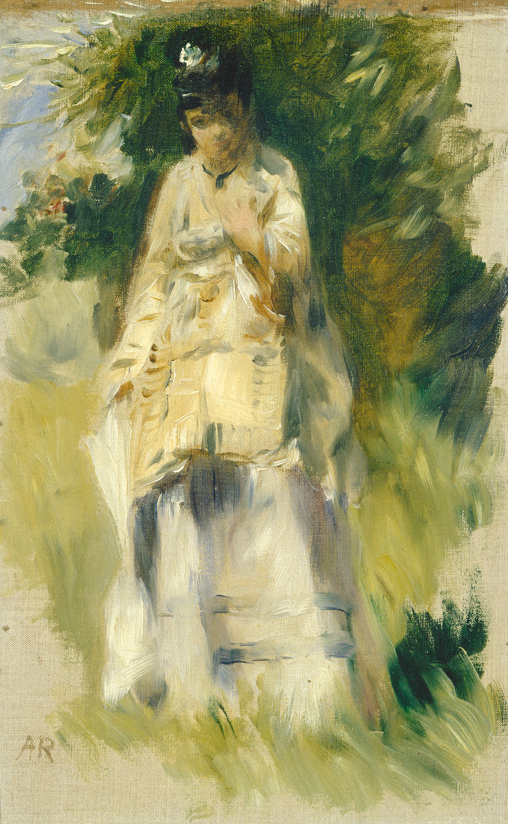 Pierre-Auguste Renoir, Woman Standing by a Tree, 1866