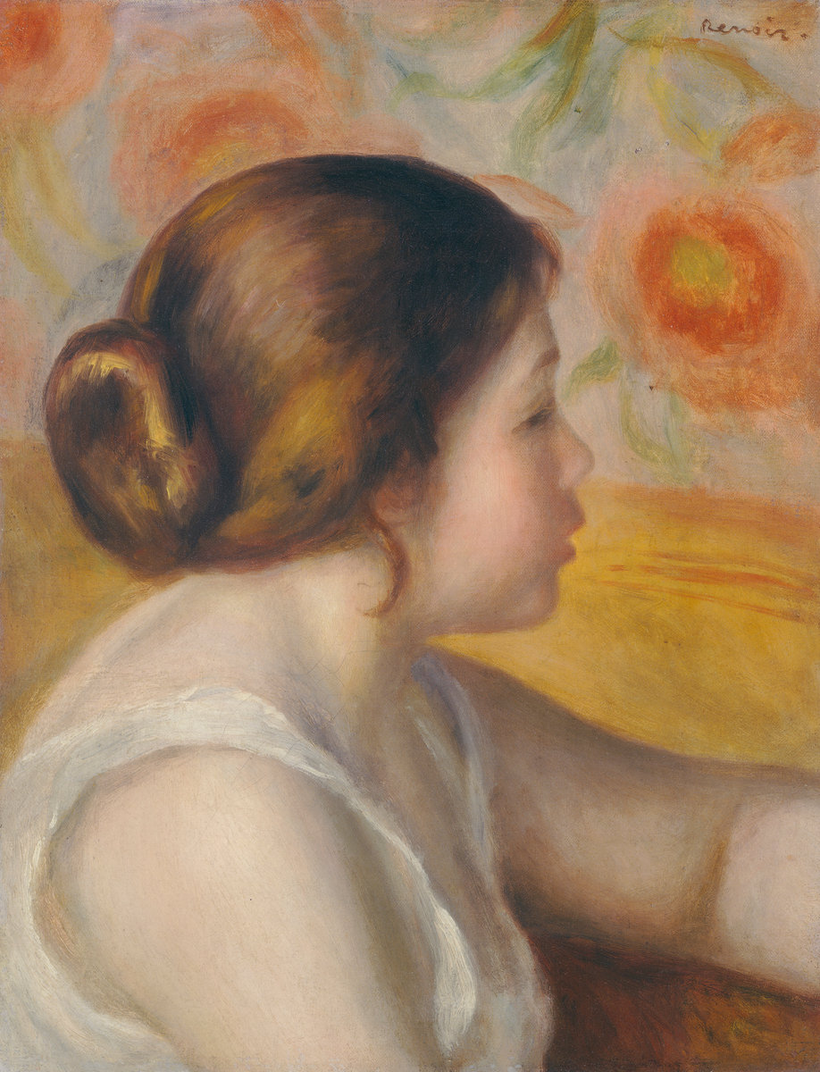 Pierre-Auguste Renoir, Head of a Young Girl, c. 1890