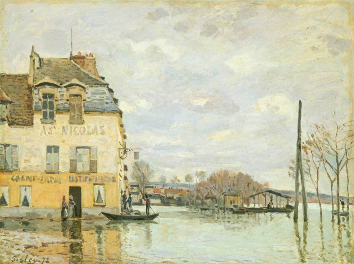 Alfred Sisley, Flood at Port-Marly, 1872