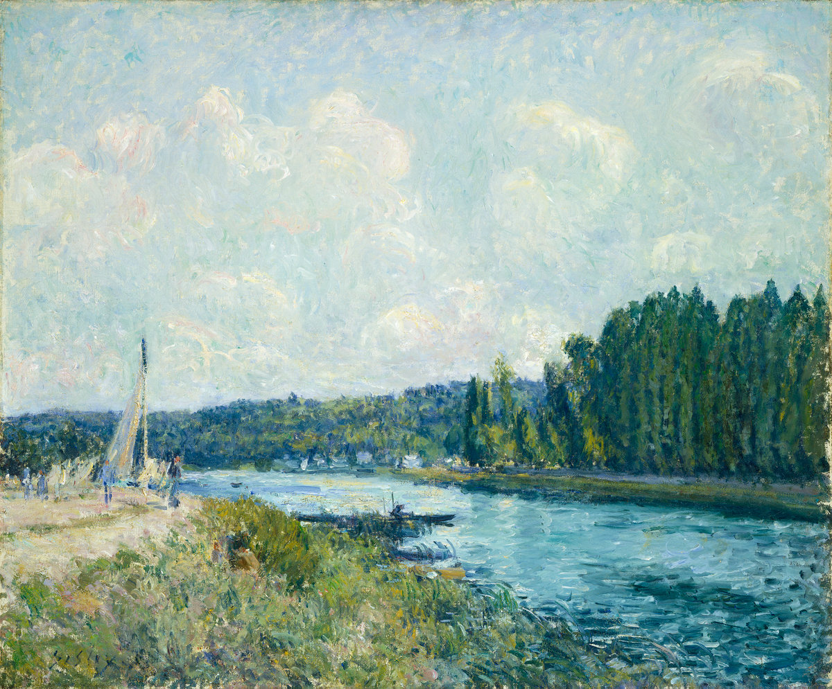 Alfred Sisley, The Banks of the Oise, 1877/1878