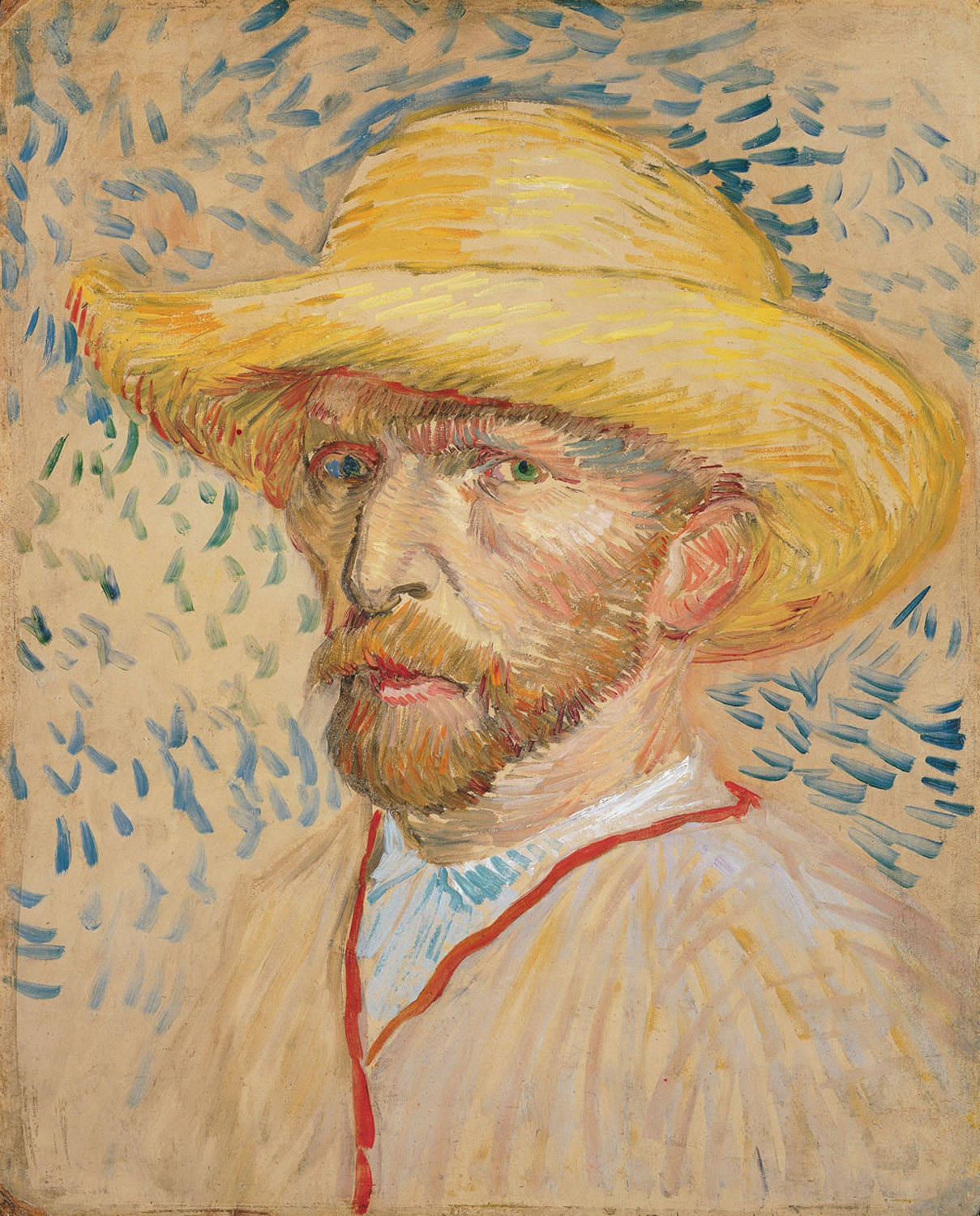 Vincent Van Gogh, Self-Portrait with a Straw Hat, 1887