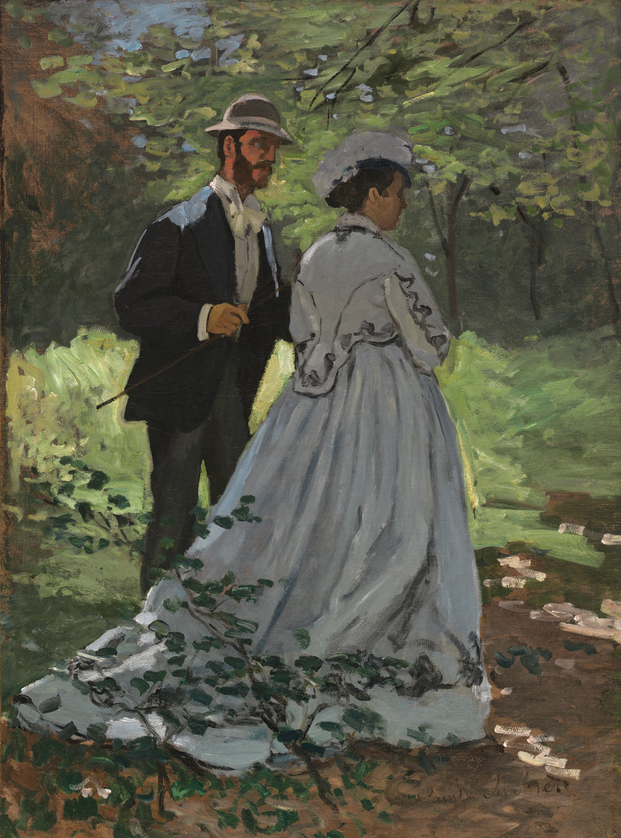 Claude Monet, The Strollers, 1865