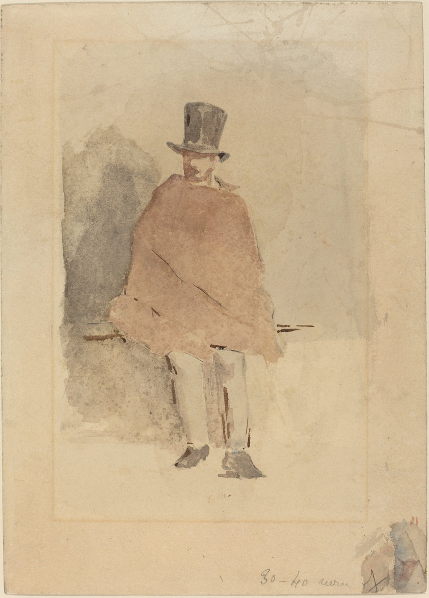 Èdouard Manet, The Man in the Tall Hat, 1858/1859