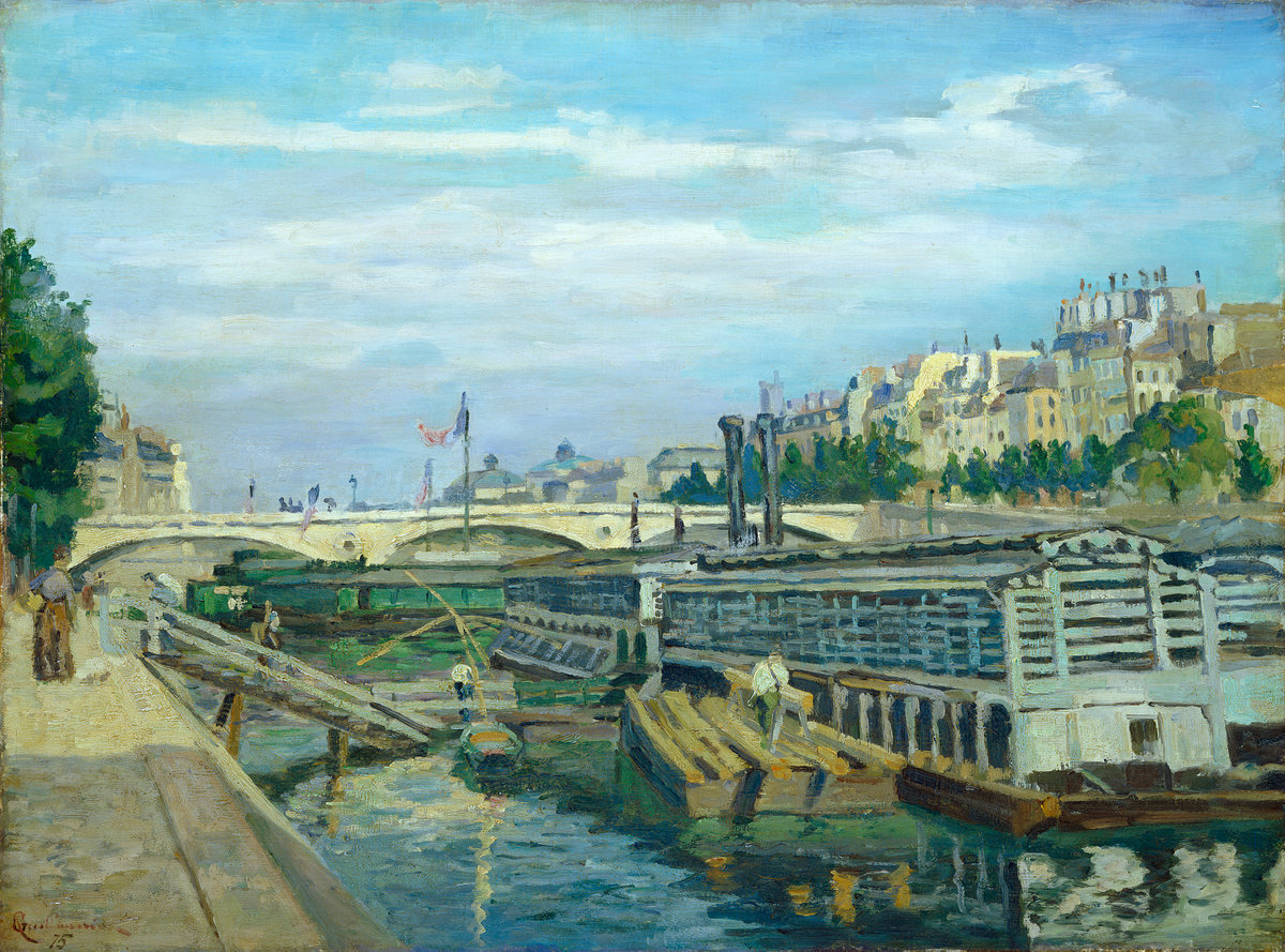 Jean-Baptiste-Armand Guillaumin, The Bridge of Louis Philippe, 1875