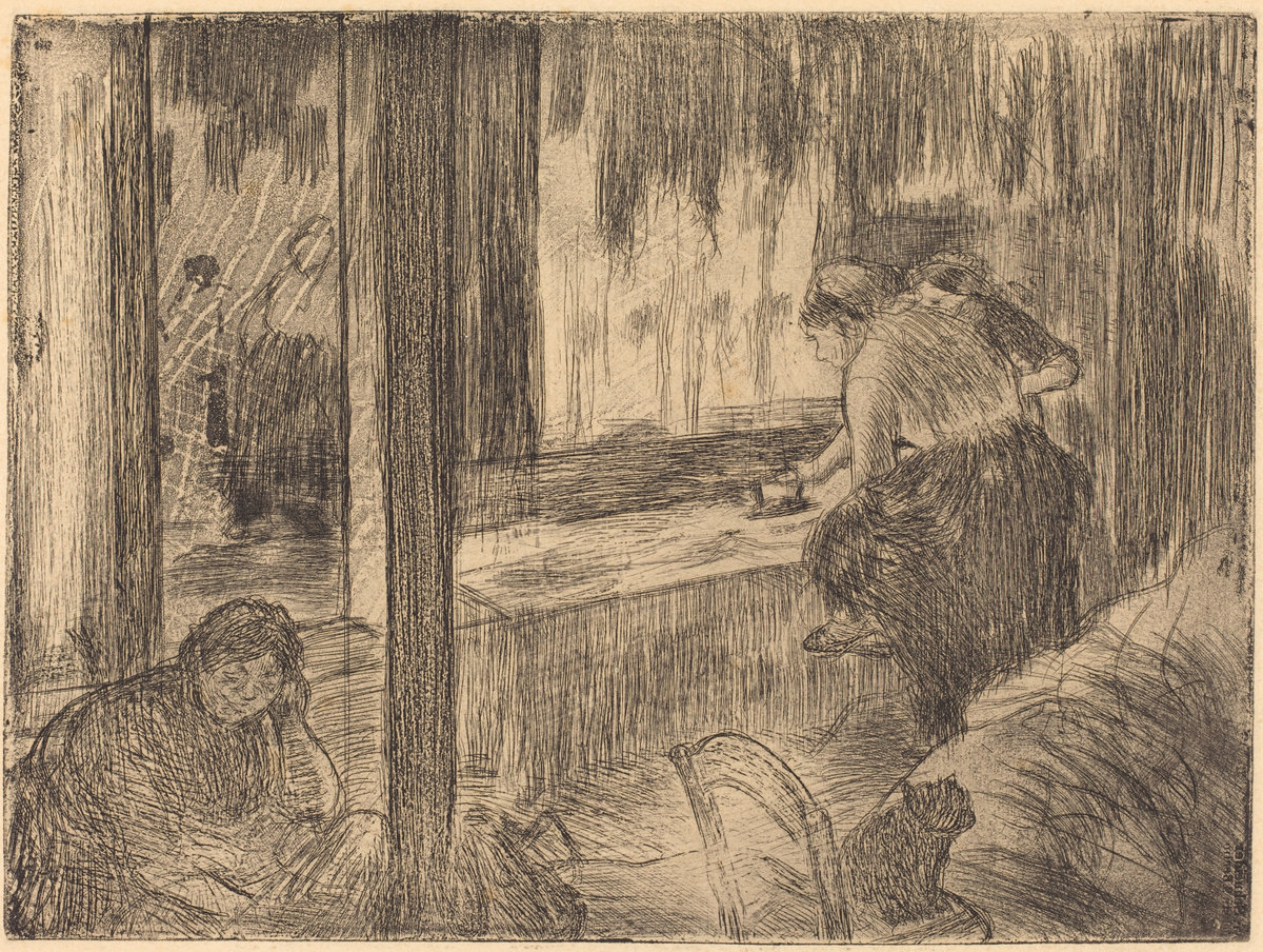 Edgar Degas, The Laundresses (Les Blanchisseuses (La Repassage)), c. 1879