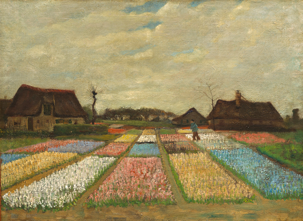 Vincent Van Gogh, Flower Beds in Holland, 1883