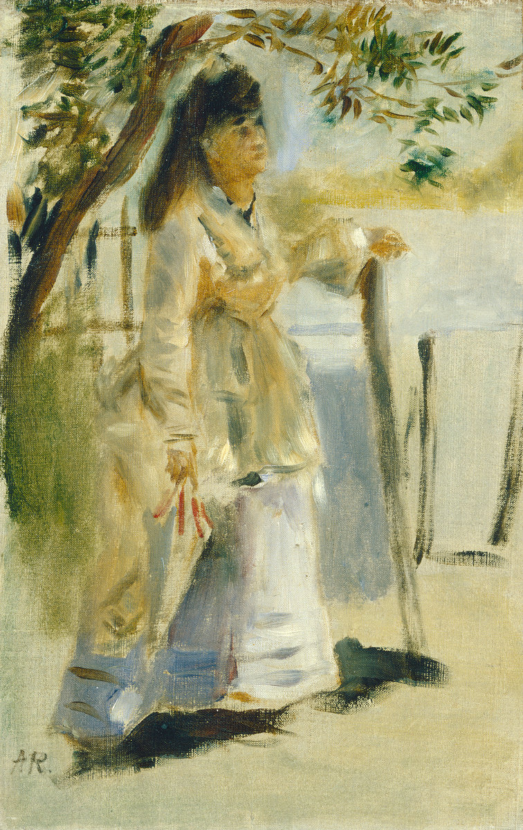 Pierre-Auguste Renoir, Woman by a Fence, 1866