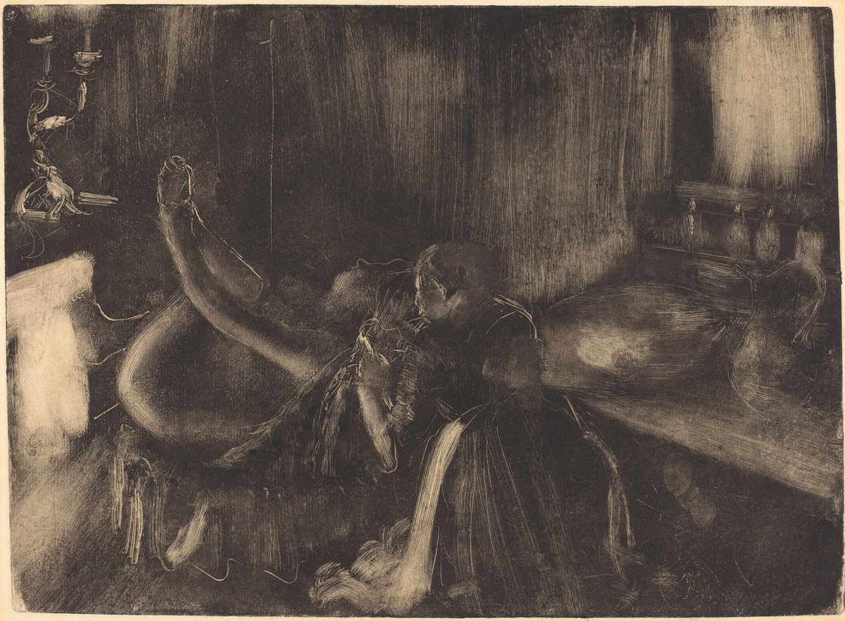 Edgar Degas, Woman by the Fireplace, 1880/1890