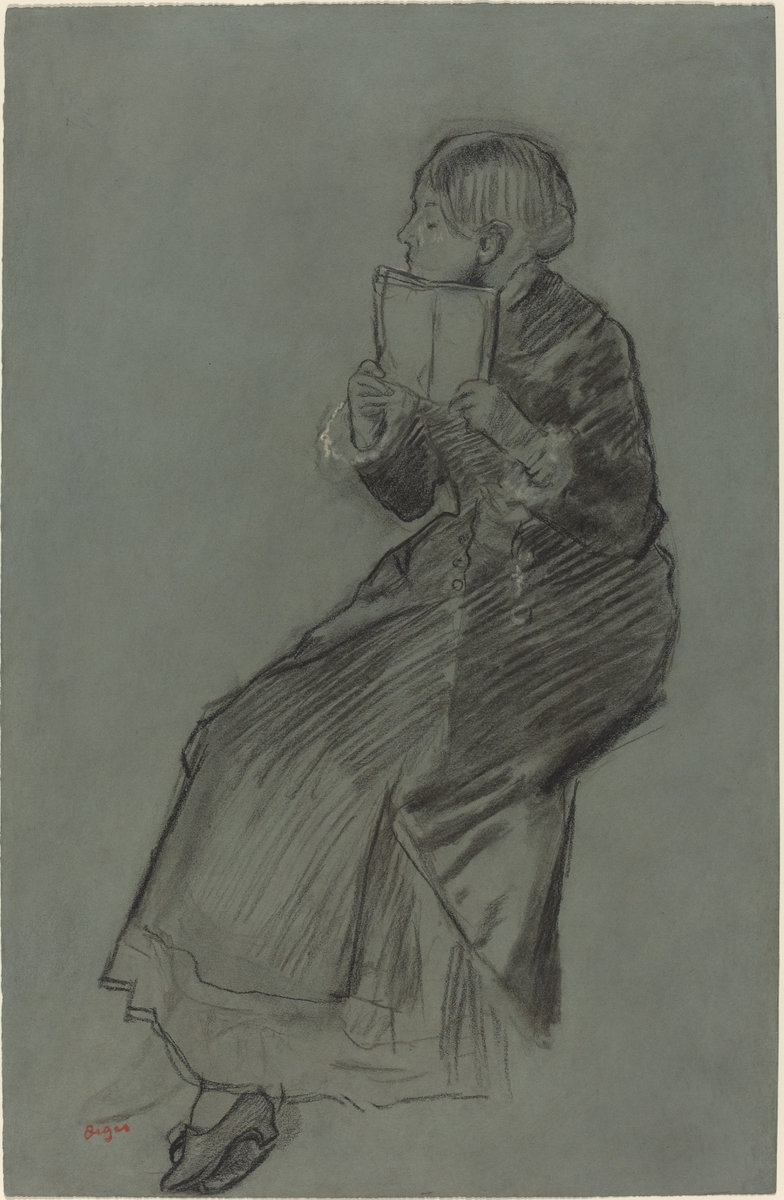 Edgar Degas, Woman Reading a Book, c. 1879