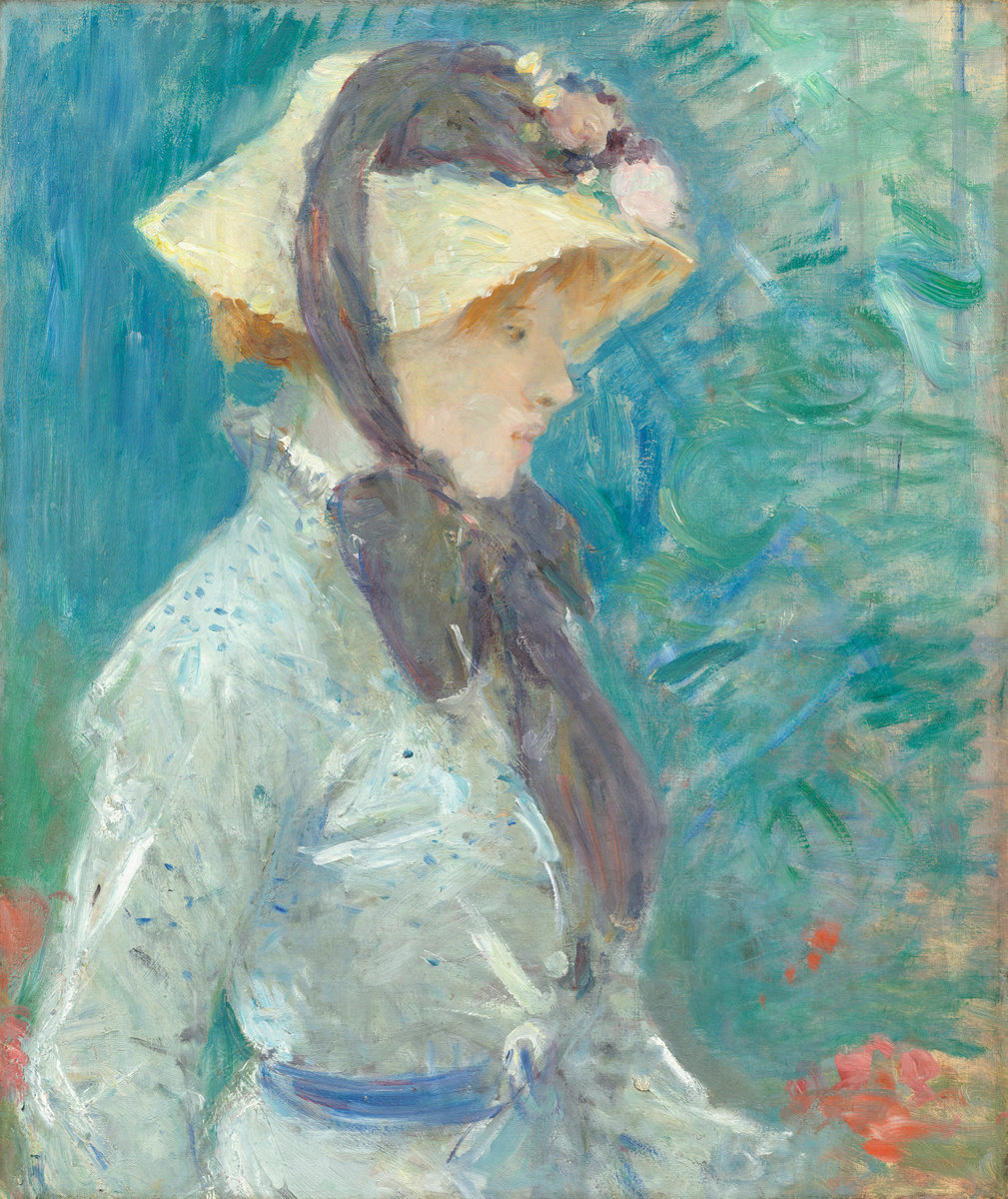 Berthe Morisot, Young Woman with a Straw Hat, 1884