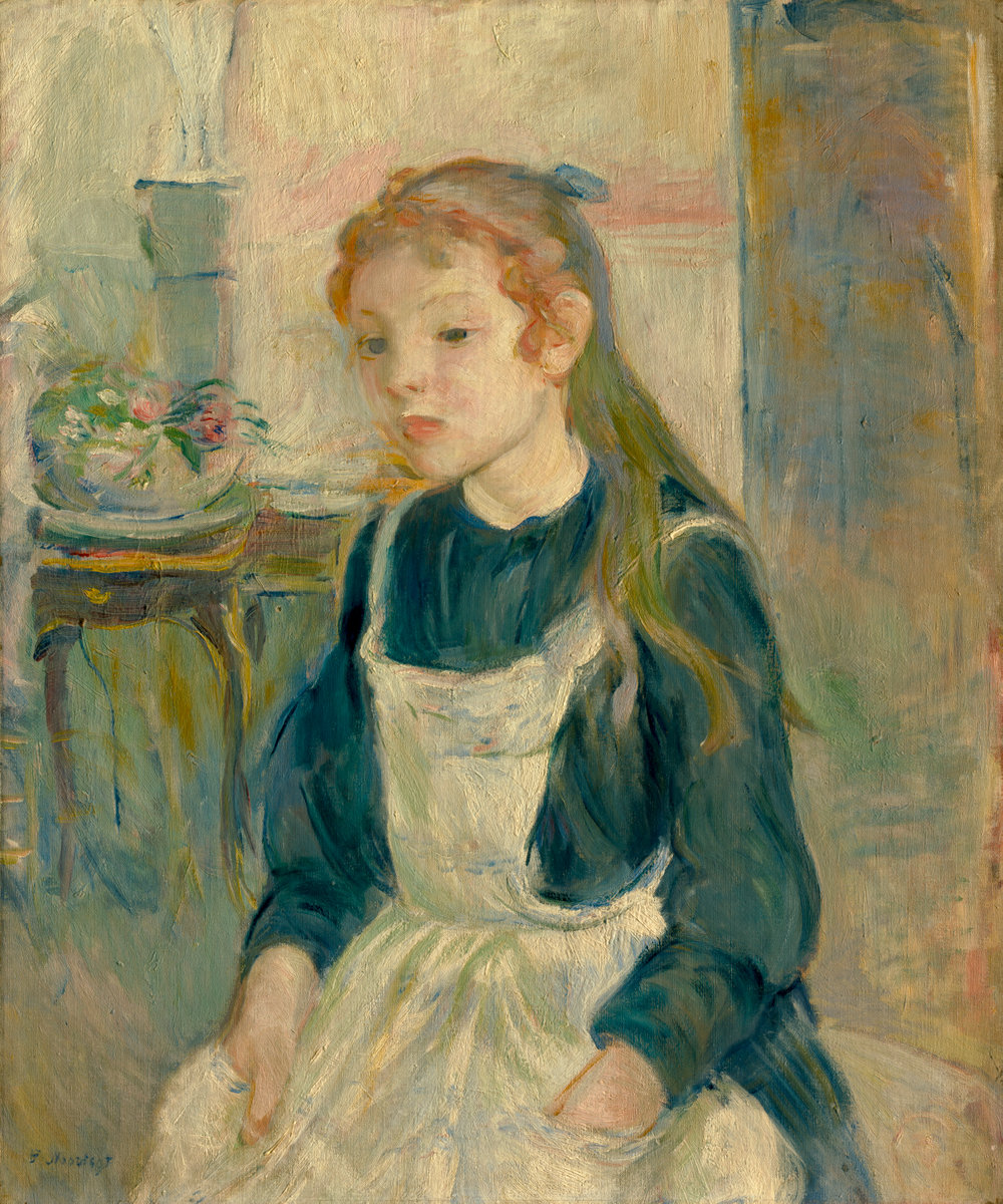 Berthe Morisot, Young Girl with an Apron, 1891